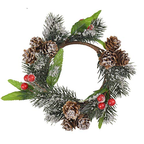 Christmas Decoration 18cm Pine Flower Pine Cone Berry Garland Home Furnishings Shooting Props