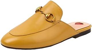 f9c62697162ace Y2Y Studio Chaussures Chaussons Mules Ballerines Plate Cuir Suede Femmes de Marque  avec Brodées et Dentelle
