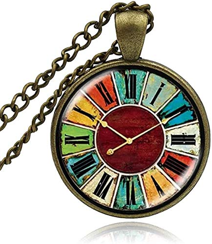 ZPPYMXGZ Co.,ltd Collar Moda Vintage Collar Cristal Búho Reloj Reloj de Bolsillo Cabochon Collar Colgante Joyas Moda Hombre Mujer Artesanía Hecha a Mano DIY Collares Collar