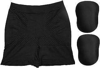 ملابس داخلية نسائية لتشكيل الجسم لمؤخرة الجسم للنساء، تقنية تنحيف الفخذ للسيطرة على البطن - 3 قطع (اللون: أسود، المقاس: X...