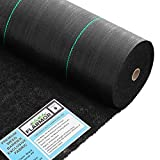 FLARMOR 3x50ft Professional Woven Landscape Fabric-5oz Geotextile Commercial Grade Garden Liner Roll - Weedblock for Garden, Flower Bed, Driveway, Drainage and Weed Prevention-Heavy Duty Ground Cover