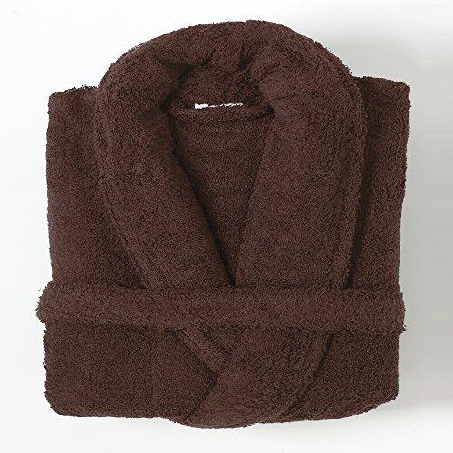 Linens Limited Peignoir de Bain, 100% Coton égyptien, Chocolat, L