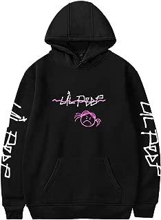 Unisex Novelty Sweatshirt Lil Peep Hoodie Casual Round Collar Hooded Black XXL