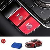Ansgo マツダ3 CX-30 Mazda3 ハンドブレーキ AUTO HOLD アルミカバー 内装 アクセサリー (レッド))