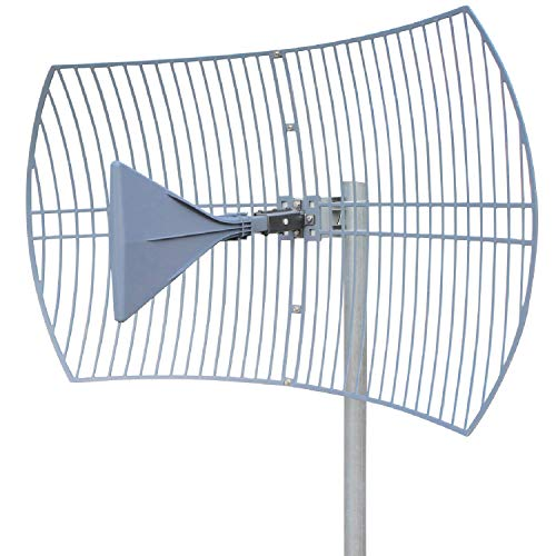 Griddy: The Grid Parabolic 4G LTE, 5G NR, and WiFi Antenna Kit by Waveform | Requires Line of Sight | Range: 40 km | 26 dB | 600-6500 MHz Dish | Works with Boosters, LTE Modems (Antenna Only)