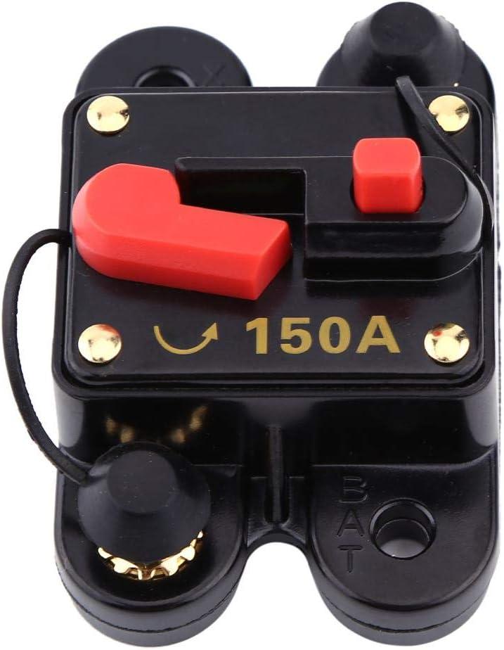 Leistungsschalter 80A Leistungsschalterhalter DC12V Leistungsschalter f/ür Auto Marine Boot Fahrrad Stereo Audio Reset Sicherung 80-300A 1Pc