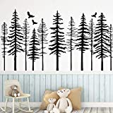 Creative Personality Art Forest Wall Stickers Wallpaper Baby Room Papel pintado Mural Mural Wall Stickers A7 57x105cm