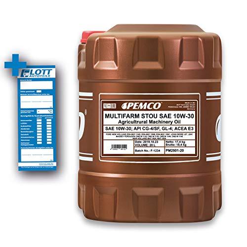 1 x 20L PEMCO Multifarm STOU 10W-30 API CG-4 GL-4 / Motor- Getriebe- Hydraulik- Öl Bau- Landmaschine