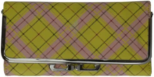 Buxton Ladies Trifold Clutch Wallet with Center Id Window Checkbook CreditCard Slots product image
