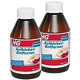 HG Aufkleber-Entferner, 2er pack (2x 300 ml) – ein äußerst effektiver Etikettenentferner, der auf allen Arten von Oberflächen wirkt