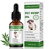 LDREAMAM Hemp Oil for Dogs Cats, Pets Hemp Oil for Pain Relief,Separation Anxiety Relief, Hips Pain,...