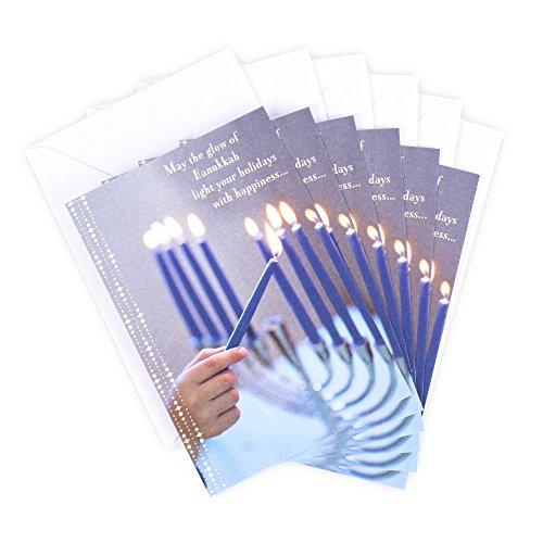 Hallmark Tree of Life Hanukkah Cards Assortment, Menorah (6 Cards with Envelopes)