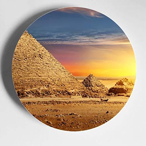 Magnífico antiguo pirámide egipcia placas decorativas con soporte placas exhibición casa wobble-placa con soporte de exhibición decoración hogar China placas de cerámica