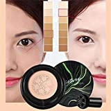 Julyfun Mushroom Air Cushion BB Cream Corrector hidratante Base de Maquillaje Primer Base BB/CC Cream Air Cushion Foundation Cubierta compacta de Maquillaje húmedo