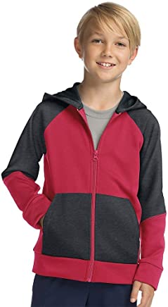 Hanes Sport Boy's Tech Fleece Full Zip Hoodie