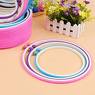 Best Quality 1 Pc 18cm 3D Adjustable Cross Stitch Ribbon Embroidery Frame Hoop, Needlework Scroll Frame - Embroidery Scroll, Loop Stitch, Ww Embroidery, Embroidery Tool, Needlework System
