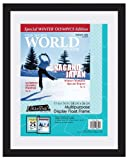 Float Frame design allows you to display a variety of sizes up to 11x14 inches Display magazines, documents, newsletters, postcards, playbills, or artwork 0.75 Inch black frame molding Ships in Certified Frustration-Free Packaging