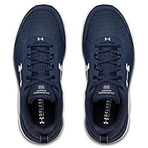 Under Armour mens Charged Assert 8 Running Shoe, Academy Blue (401 White, 8.5 US