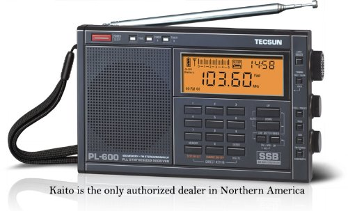 Tecsun PL-600 AM/FM/LW SSB Shortwave Radio, Black