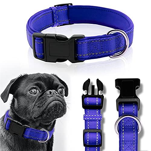 CHMEYUN Collar para Perros - para Cachorros Pequeños, Medianos - Fuerte E Impermeable - Trenza Textil, Costura Reforzada, Hebilla Doble