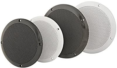 "Water resistant 6.5"" Speakers | Black | 100W max | 8 Ohms from Universal Markets Ltd"