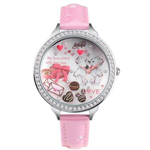 Didofà 3D Damen-Armbanduhr Analog Quarz DF-S905