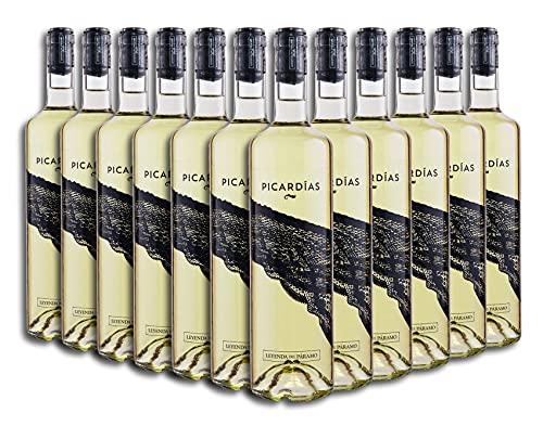 Vino Blanco Dulce - Leyenda del Páramo - Vino Picardias - Caja De 12 botellas De 75 Cl. - Envio en caja protectora de alta resistencia para un transporte 100% seguro