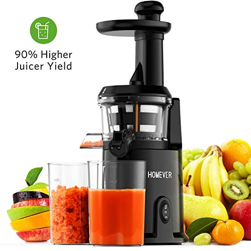 Best Review Of Juicer Machines, Homever Slow Masticating Juicer Extractor for Juicer Fresher, Cold P...