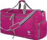Bago 60L Sports & Travel Duffle Bag - Foldable Weekender Bag For Women & Men - Lightweight waterproof Shoe Pocket