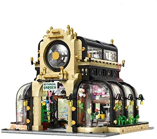 FanMei Gebäudemodelle mit LED-Beleuchtung, Modellbausätze für den Botanischen Garten 2147, Bauklemmen, die mit Anderen Marken kompatibel sind