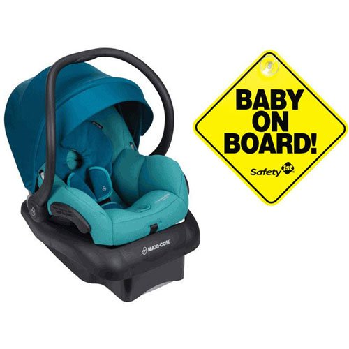 Best Review Of Maxi-Cosi Mico 30 Infant Car Seat - Emerald Tide with Bonus Baby on Board Sign