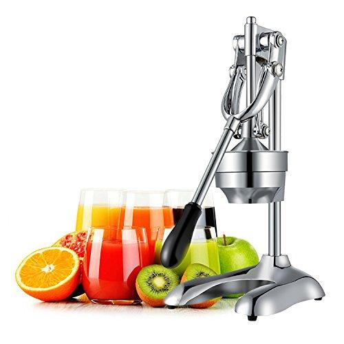 OZAVO Exprimidor Manual de Palanca Exprimidor de Fruta/Naranja/Granada/Limón Profesional Exprimidor de Zumo a Mano Multi Función (Piezas Desmontables/Fácil Manejo/Sin Electricidad/Acero Inoxidable)