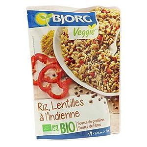 Bjorg Riz Lentilles à l'Indienne Bio - 1 doypack 220 g
