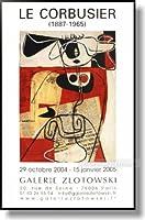 ル・コルビジェ Galerie Zlotowski 【ポスター+フレーム】約 41 x 61 cm ブラック