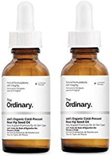 The Ordinary 100% Organic Cold-Pressed Rose Hip Seed Oil 30ml (Pack of 2)