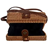 Katigan INS新しいレディース手織りの四角いバッグ籐レトロアート手織り革バッグボヘミアビーチメッセンジャーバッグ