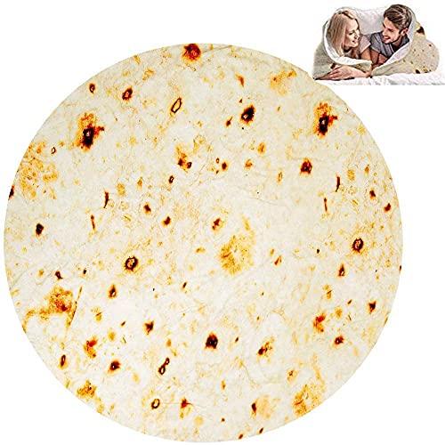 M.Q.L. Bequeme Decke, Super Soft Cashmere Feeling, Burrito Tortilla Riesige runde Decke, Weiche und Warme - Polyester - 200cm/78.7
