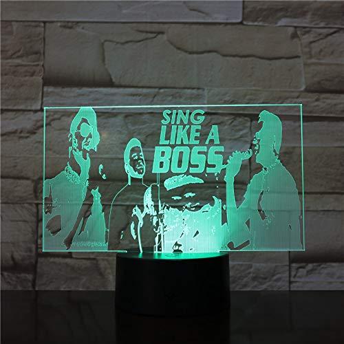 Singe Wie Ein Boss Nachtlicht Kinder Nachtlicht 3D Optische Täuschung 7 Farben Ändern Schlafen Beleuchtung Geburtstag Erstaunliche Geschenke Für Baby Kinder Mädchen