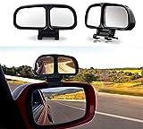 2pac coches y motos punto ciego espejo retrovisor izquierdo y derecho 360 grados de ajustable lado de gran angular espejo retrovisor