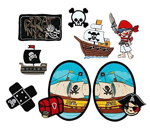 Mono-Quick Bügelbilder,Piraten,Kinder,Jungen,Aufnäher,Patches, 10cm, 8