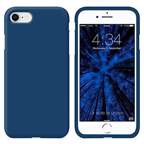 SURPHY Cover iPhone SE 2020,Cover iPhone 8, Cover iPhone 7, Custodia iPhone SE /8/7 Silicone Cover Antiurto con Morbida Microfibra Fodera Case per iPhone SE 2020/8 / 7 4.7', Blu Orizzonte