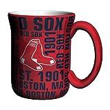 Boelter Brands MLB Boston Red Sox Sculpted Spirit Mug, 17-Ounce