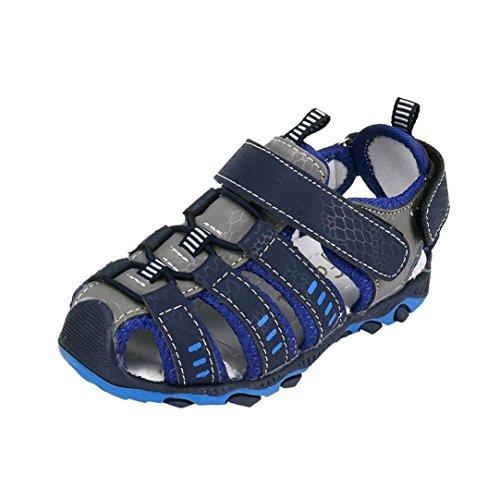 ELECTRI Été Enfants Chaussures Garçons et Filles, Baotou, Sandales antidérapantes, Pantoufles Chaussures Garçon Fille Fermé Toe Summer Beach Sandales Chaussures Sneakers (26 EU, A-Bleu)