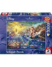 Schmidt - SCH-59479 - Disney Kleine Zeemeermin, Ariël, 1000 stukjes Puzzel - vanaf 12 jaar - disney puzzel - van Thomas Kinkade