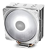 DEEP COOL GAMMAXX GTE V2 White CPU Air Cooler with 4 Heatpipes, 120mm PWM Fan with White LED and White Top Cover for Intel LGA 1200 1151 2011 AMD Ryzen AM4