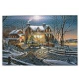 Puzzle de madera 1000 unidades, Terry Redlin - y corona tu bien con el rompecabezas de la hermandad, rompecabezas de fotos impresos coloridos para regalo de año nuevo