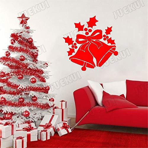 Muursticker Jingle Klokken Kerstvakantie Decoratie voor Home Decals Ramen voor Kwekerij Kids Room Decor 12x12 inch