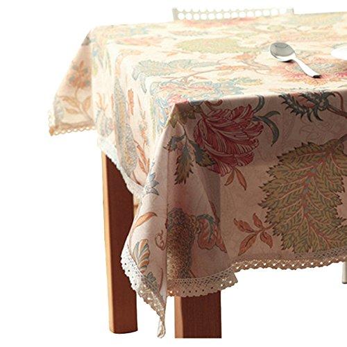 Nappe de nappe Western tissu de thé imperméable et sale Oxford tissu vintage art dentelle (Size : 150cm diameter circle)