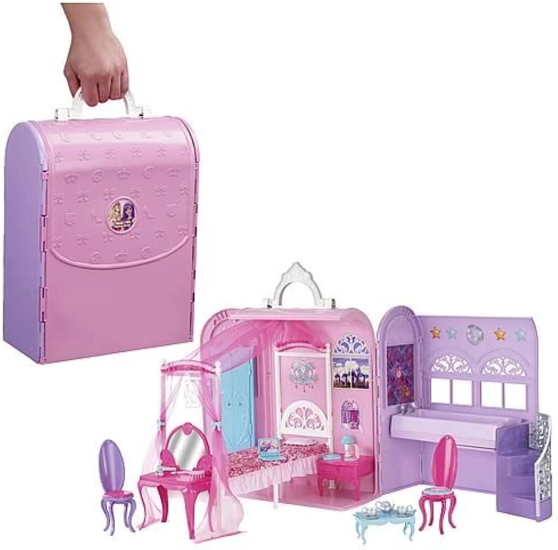 Mattel X3706 - Barbie Die Prinzessin & der Popstar Schlafzimmer und Bad, zusammenklappbar, mit viel Zubehr