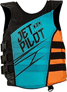 Jet Pilot Matrix Side Entry Nylon PFD (Small / Medium, Teal / Orange)